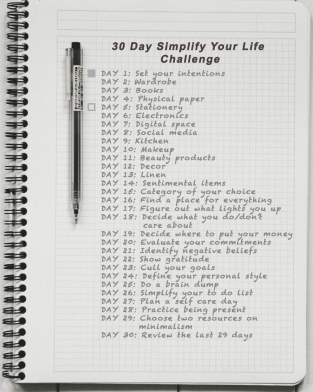Day 2: Simplify your life challenge - Stationery
