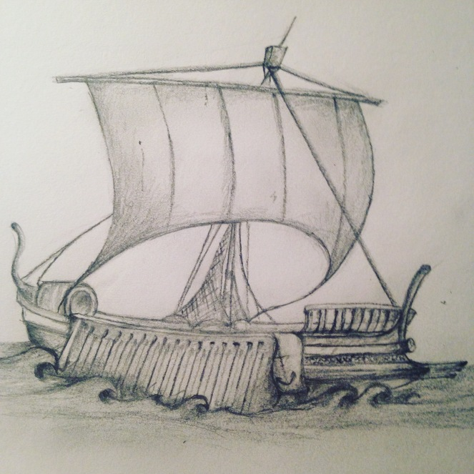 Boat Sketch by Alice Maisie