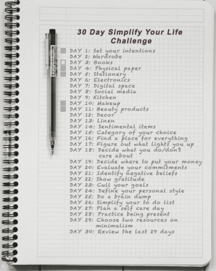 Day 5: Simplify Your Life - Books