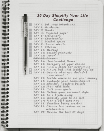 Day 8: Simplify your life - what lights you up and what you care about