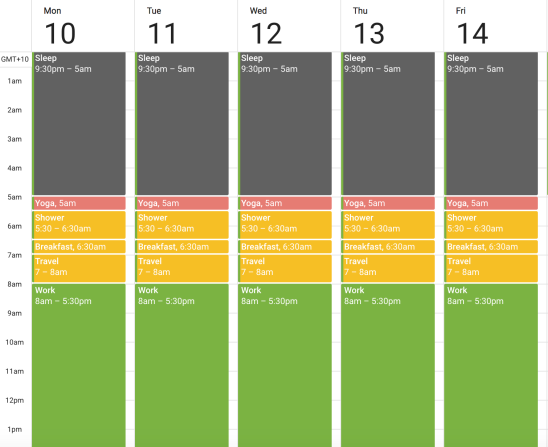 Time Blocking: Google Calendar