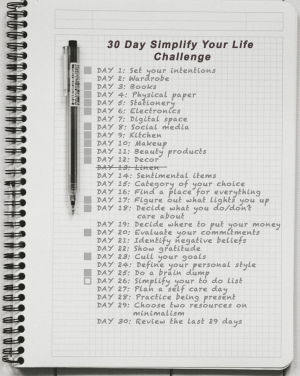Day 12: Simplify Your Life - To Do List